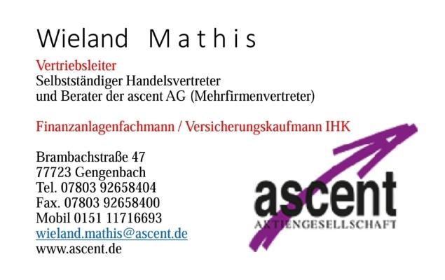 Wieland Mathis – Werbung