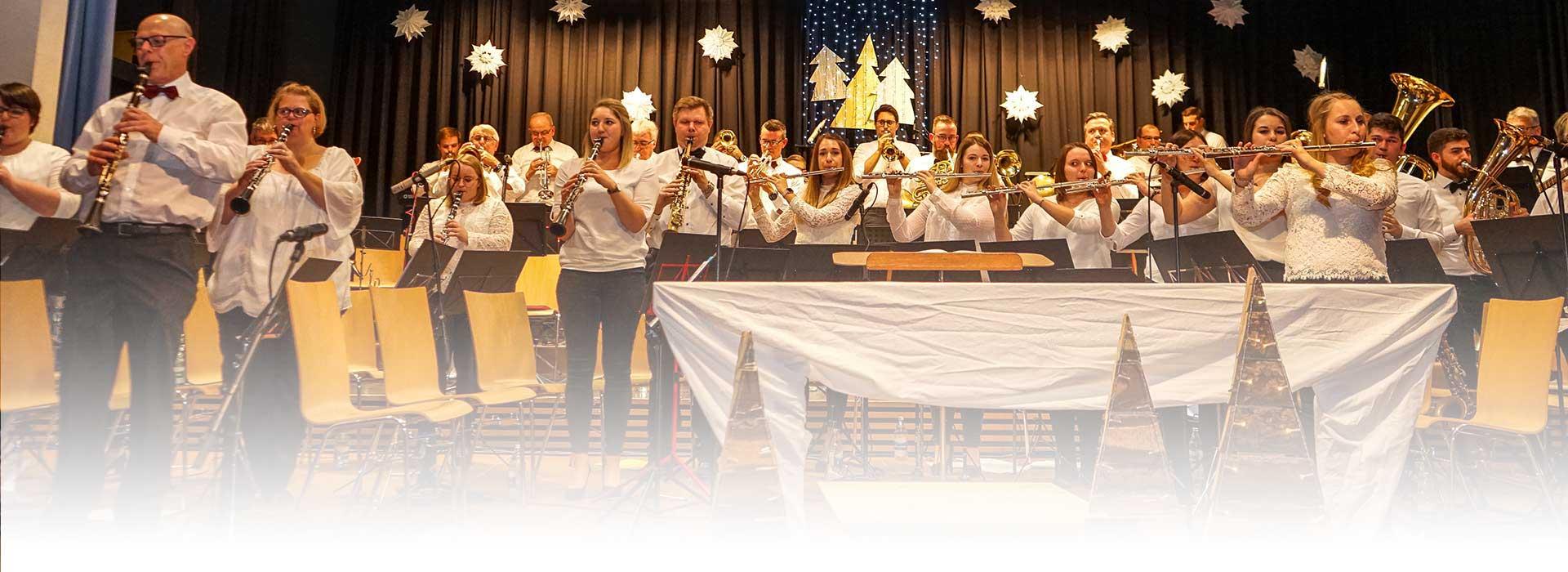 Blasorchester Berghaupten beim Jahreskonzert 2019